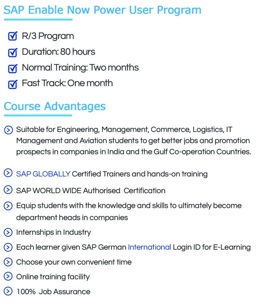 Sap Power User Program Zenfotec Sap Authorized Training Institute